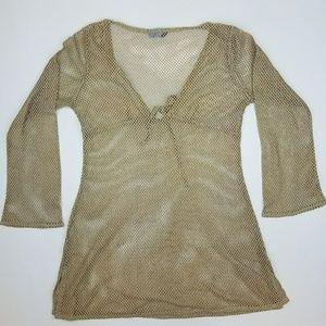 St John's Bay Women's Small Beige Shirt